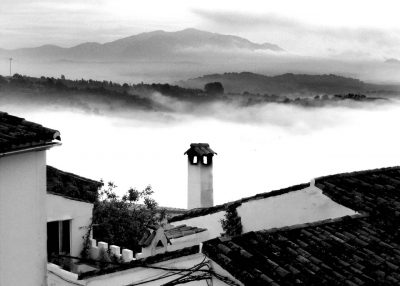 morning mist in jimena