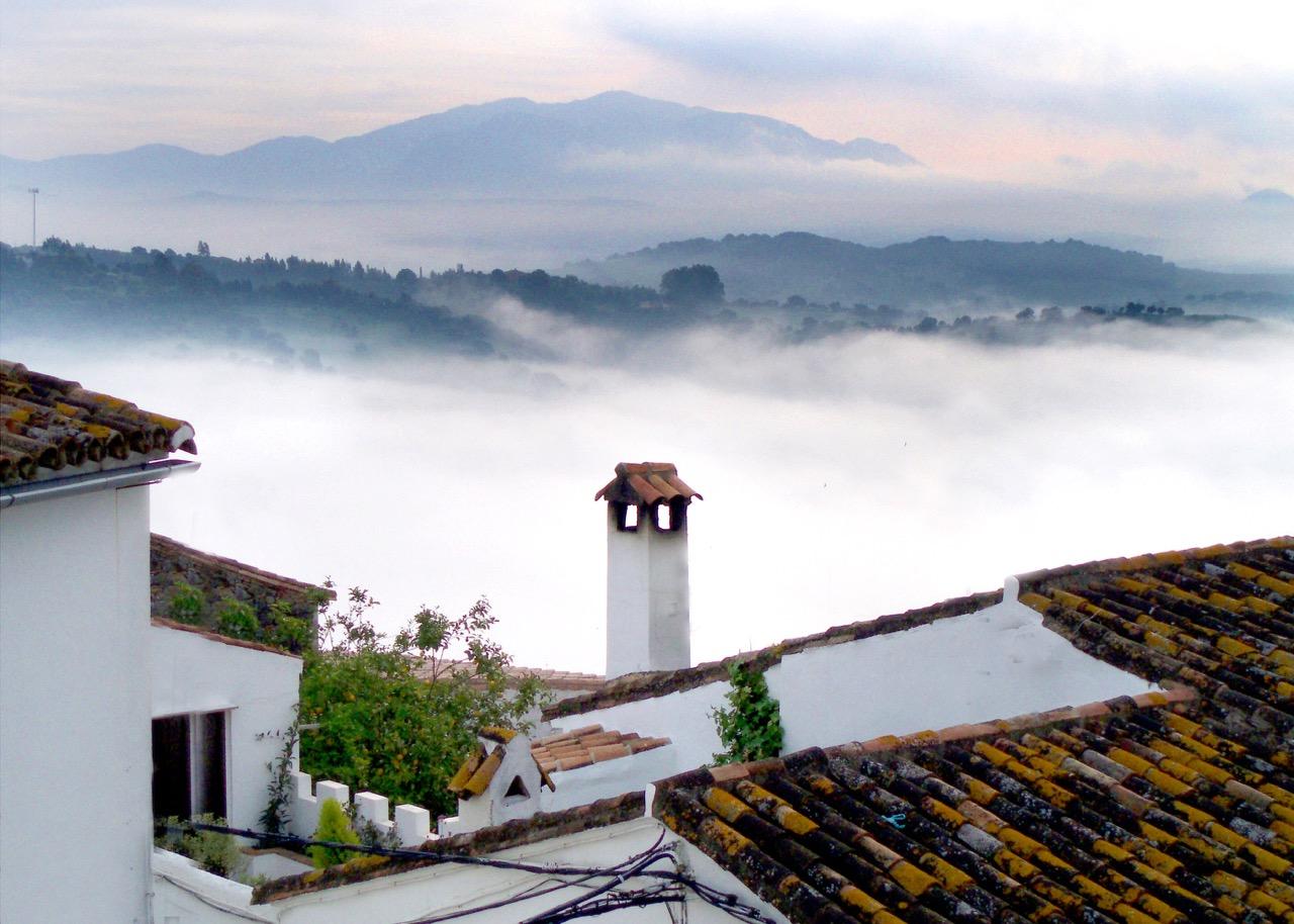 morning mist over jimena