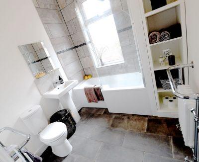 shower bath new slate floor
