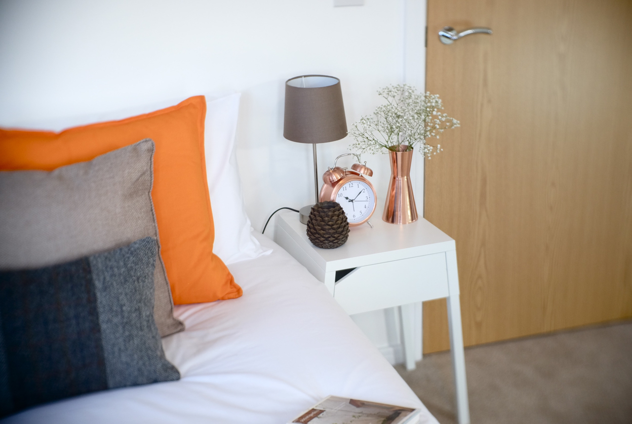 bedroom interior bedside tables